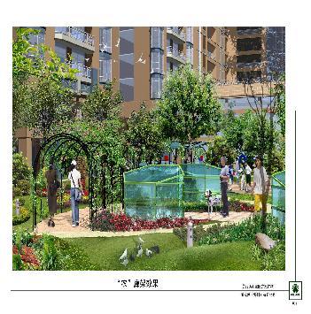 深圳龙华美丽aaa花园景观设计施工图包含总图,中庭