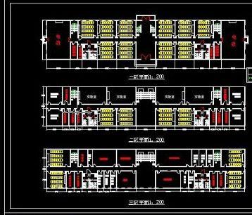 大学学校教学楼cad设计施工图纸