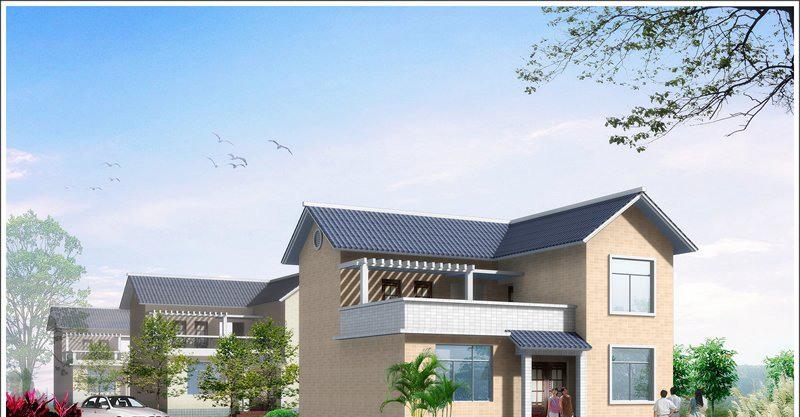 单家独院式二层新农村房屋设计图