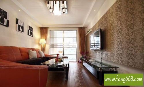 厅二居室小户型装修设计算是2011年比较经典的样板间设计吧