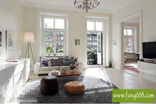 别墅客厅装修效果图,夏日里的清凉巧用色彩打造简约风格别墅客厅