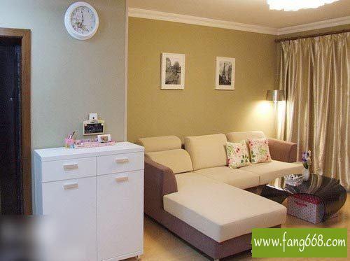 120平方装修效果图,室内两室两厅简单房子家居装修