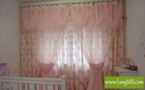飘窗窗帘布艺图片,女生卧室窗帘蕾丝情节