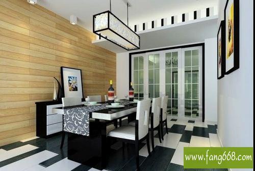 中式风格-欧式风格家庭餐厅装修效果图欣赏