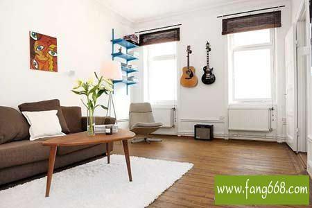 看单身公寓两房一厅省钱装修50平米小户型图片,小家居设计不简单