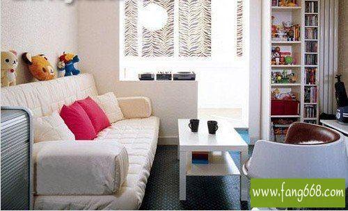 60平方小户型客厅设计图片,充分利用每寸空间把居室功能扩