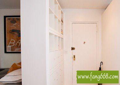 2013年客厅卧室隔断效果图,打造纯白色简约现代风格房屋设计