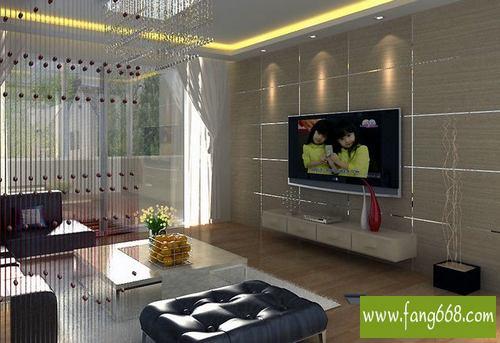 电视墙装修效果图 电视墙彩绘图