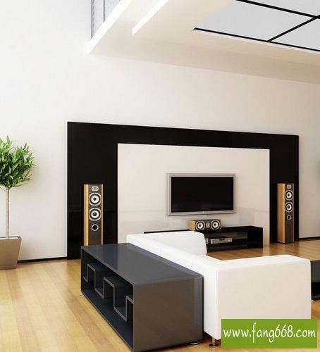图欣赏,极简生活现代简约风格电视墙装修,   电视墙效果图大