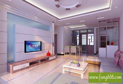 2012室内小户型客厅吊顶效果图,个性独特造型的客厅吊顶装