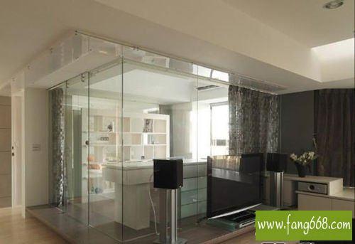 隔断图片 上海玻璃隔断 客厅隔断装修效果图 弄村东屋厨房设