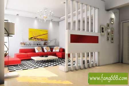 几款家用客厅隔断设计效果图