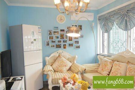 地中海风格装修图片,三居室房屋设计感受漫步海边的