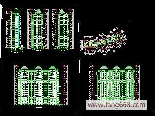 高层住宅图纸279简介:建筑结构图纸下载,建筑结构整套图纸