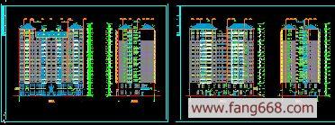 湘江明珠 高层住宅平立面图